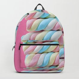 Pastel Rainbow Marshmallow Candy Backpack