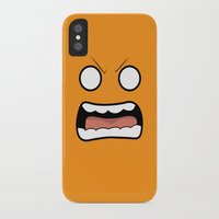 scary iPhone & iPod Cases featuring Scary Face by Tombst0ne