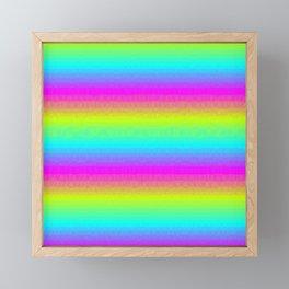 Neon Stripes Framed Mini Art Print