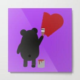 Black Bear painting Metal Print
