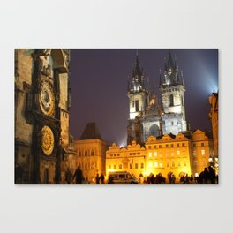 Prague at Night Canvas Print