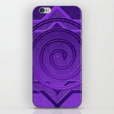okataar purple mandala iPhone & iPod Skin