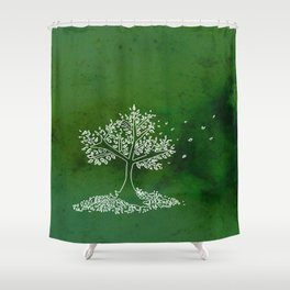 Wind Green  Shower Curtain
