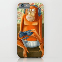 Monkey play iPhone Case