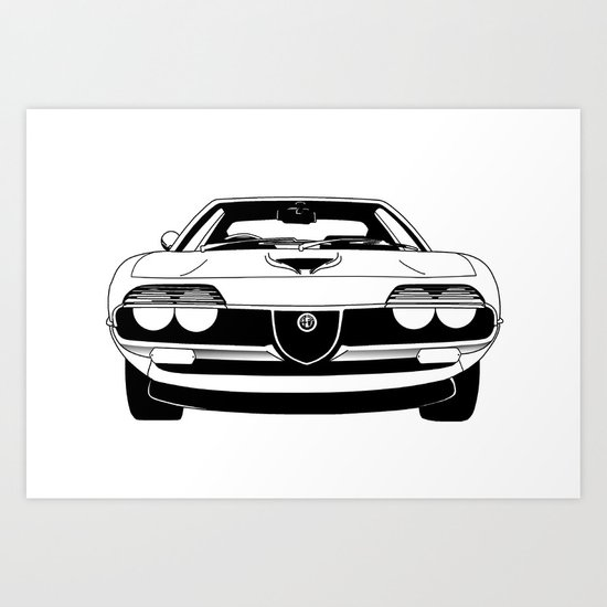 Alfa Romeo Montreal Art Print