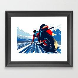 Motor racer speed demon Framed Art Print