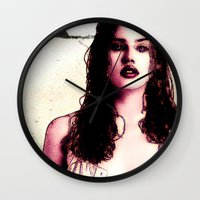 planet of the apes Wall Clocks featuring In The Planet Of The Apes (Estella Warren) by  JESUS TORRADO TORO (jarttoro)