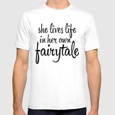 FAIRYTALE SMALL White Mens Fitted Tee