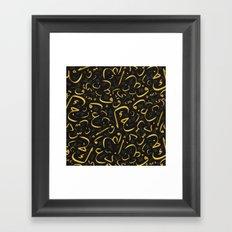Golden Letters Framed Art Print