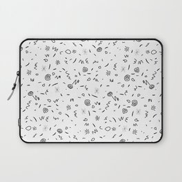 Black and White Geometrical Pattern Laptop Sleeve