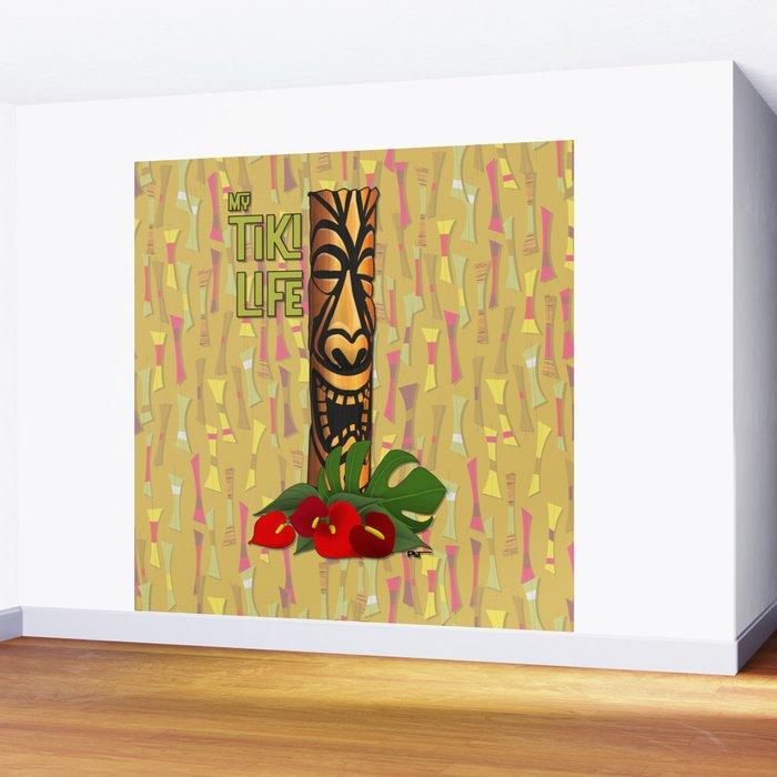 Tiki Pole Art #1 Wall Mural