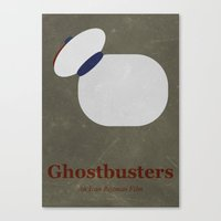 ghostbusters Canvas Prints featuring Ghostbusters by Matt Bacon