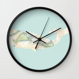 Nantucket Whale Wall Clock