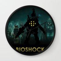 bioshock Wall Clocks featuring Bioshock by Pixel Design