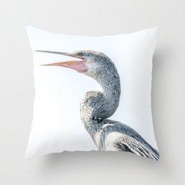 Snake Bird: Anhinga Throw Pillow