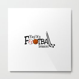 Football Season Metal Print