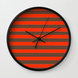 Wild Stripes Wall Clock