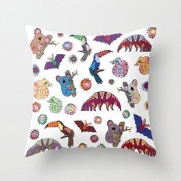 Brazustralia Throw Pillow