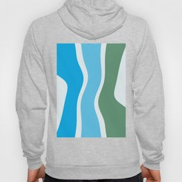 Cyan Turquoise Mint Organic Shapes Hoody