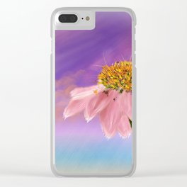 Flower in the Storm Clear iPhone Case