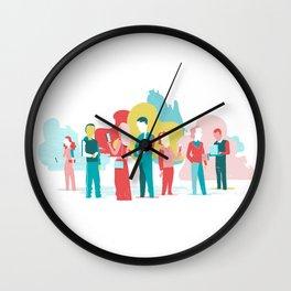 Customer Experience and Digital Addiction Wall Clock