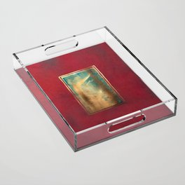 Deep Red, Gold, Turquoise Blue Acrylic Tray