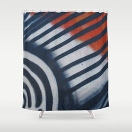 Red White & Blue Graffiti Shower Curtain