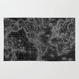 World map rugs society6 black and white world map 1864 inverse rug gumiabroncs Images