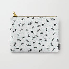 twigs & dots turquoise Carry-All Pouch