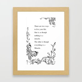 Secret of a Miracle  Framed Art Print
