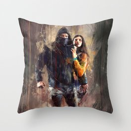 Lo chiamavano Jeeg Robot Throw Pillow