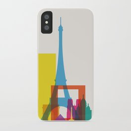 Shapes of Paris. Accurate to scale. iPhone Case
