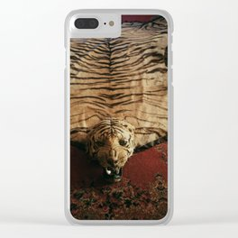 Tiger Skin Rug Clear iPhone Case