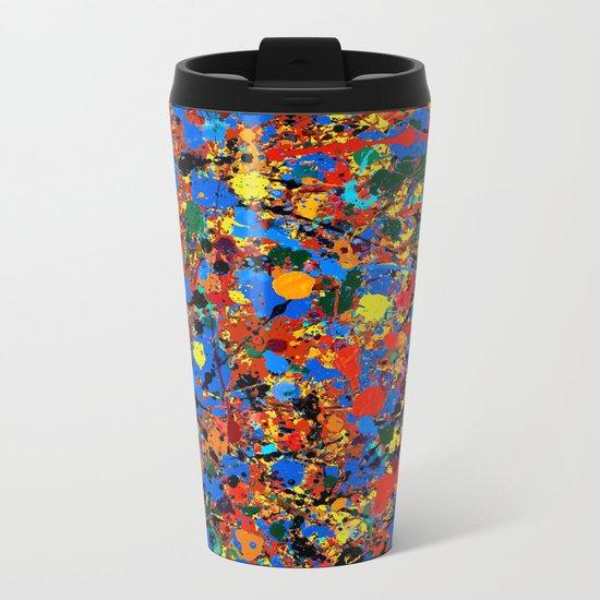 Abstract #744 Veronica Metal Travel Mug