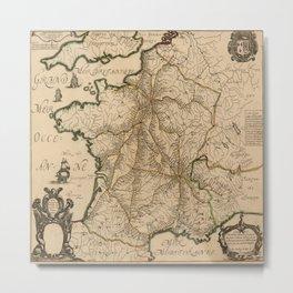 Map Of France 1632 Metal Print