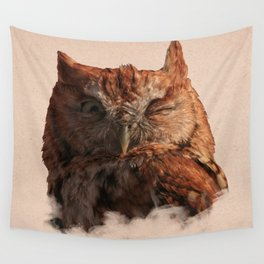 Winking Owl Wall Tapestry
