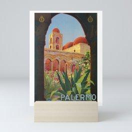 vintage 1920s Palermo Sicily Italian travel ad Mini Art Print