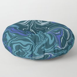 Teal and Blue Marsh Marble Floor Pillow
