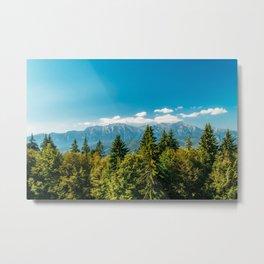 Carpathian Mountains Landscape, Summer Landscape, Transylvania Mountains, Forests Of Romania, Print Metal Print