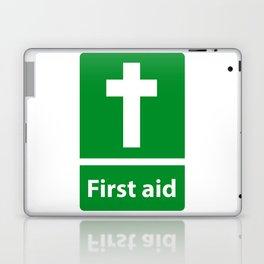 First Aid Cross - Christian Sign Illustration Laptop & iPad Skin