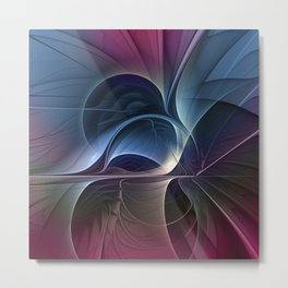 Fractal Mysterious, Colorful Abstract Art Metal Print