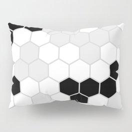 Honeycomb Pattern   Black and White Design   Minimalism Pillow Sham