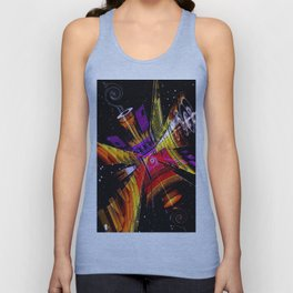Cosmic fractal abstract. Unisex Tank Top