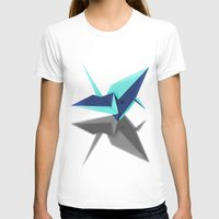 origami T-shirts featuring Origami by Red 99