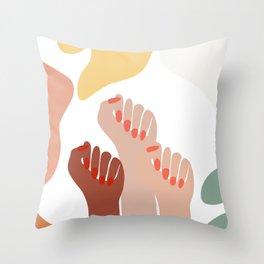We persist - Girls hands - girlpower  Throw Pillow
