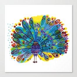 Peacock Canvas Print