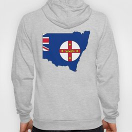New South Wales Australia Map with NSW Flag Hoody