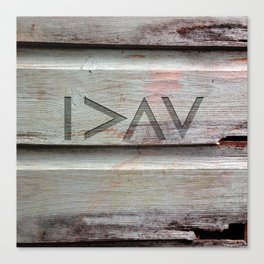 I>ΛV Canvas Print