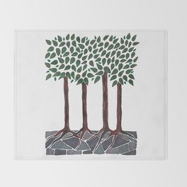 A Walk in the Woods Throw Blanket