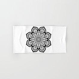 Black and White Flower Hand & Bath Towel